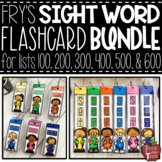 Fry Sight Word Flash Card BUNDLE for Word Lists 100-600 {C