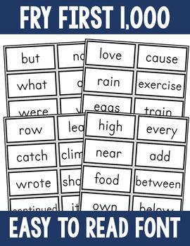 Sight Word Flashcard Bundle - Fry First 1000