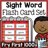Sight Word Flashcard Bundle - Fry First 1000