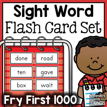 Sight Word Flash Card Bundle - Fry First 1000