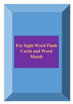 Fry Sight Word Flash Card and Activity Set 501-600