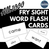 Fry Sight Word Flash Cards: All 1000- Printable on Avery L