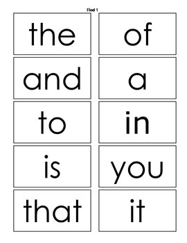 Fry Sight Word Flash Cards, Assessments, and Ideas