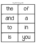 Fry Sight Word Flash Cards (By Lists)