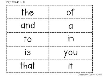 graphic regarding Printable Sight Word Cards titled Fry Sight Term Flash Playing cards Freebie 1-100