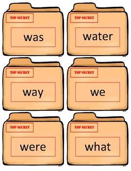 Fry Sight Word Flash Cards~ Kindergarten/1st grade Case Files
