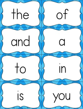 Fry Sight Word Flash Cards - The First 100 - High Frequency Words Flashcards