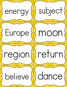 Fry Sight Word Flash Cards - The Sixth 100 - High Frequency Words Flashcards