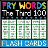 Fry Sight Word Flash Cards - The Third 100 - High Frequency Words Flashcards