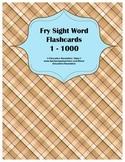 Fry Sight Word Flashcards 1 - 1000