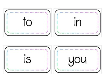 Fry Sight Word Flashcards (1st 100)