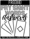 Fry Sight Word Flashcards - FREEBIE!