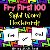 Fry Sight Word Flashcards {First 100}