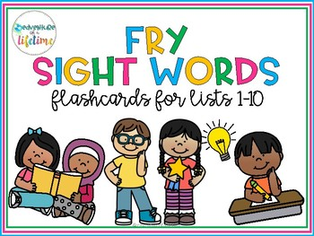 Fry Sight Word Flashcards (Lists 1-10, all 1000 words!)