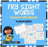 Fry Sight Word Flashcards (Second 100 Words)