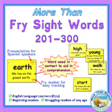 More Than SIGHT WORDS for Fluency AND Comprehension 201-300