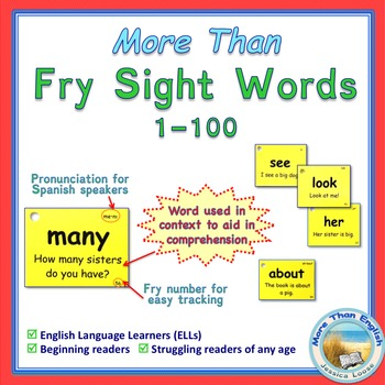 More Than SIGHT WORDS for Fluency AND Comprehension 1-100