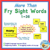 More Than SIGHT WORDS for Fluency AND Comprehension 1-36 FREEBIE