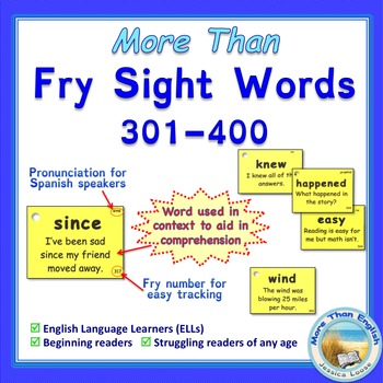 More Than SIGHT WORDS for Fluency AND Comprehension 301-400