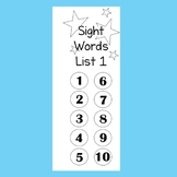 Fry Sight Word Fluency Booklet One (First 100)