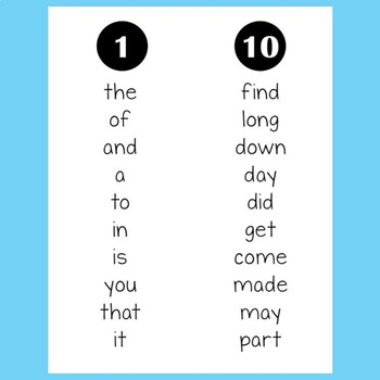 Fry Sight Word Fluency Booklet Five (Fifth 100)
