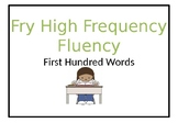 Fry Sight Word Fluency, First Hundred Words