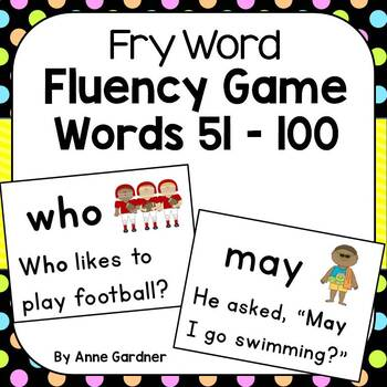 Sight Word Fluency Game using Fry Words 51 - 100 {Ideal for Special Education}