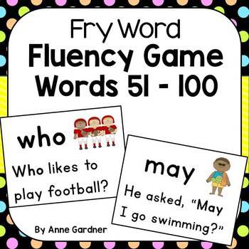 "Fry Sight Word Fluency Game ~ Sentence Reading ""Bang"" Game"