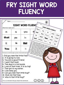 1st Grade Sight Word Fluency Practice (Fry)