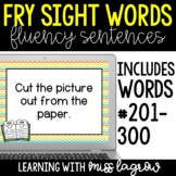 Fry Sight Word Fluency Sentences Slides and Task Cards - T