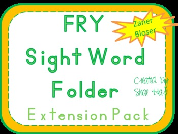 Fry Sight Word Folder {EXTENSION} to 1,000 words - Zaner Bloser Font