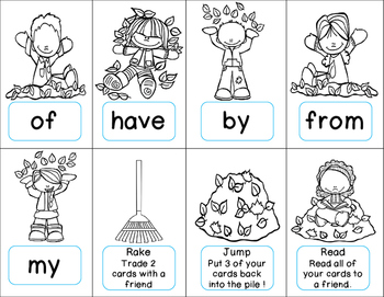 Fry Sight Words: Kindergarten (Leaves)