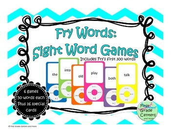 Fry Sight Word Games 1-300