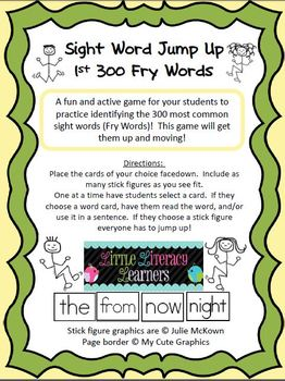 Fry Sight Word Jump Up
