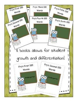 Fry Sight Word List Books