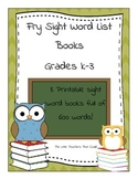 Fry Sight Word List Books