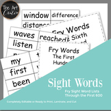 Fry Sight Word List, The First 600