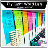 Fry Sight Word Lists #101-200
