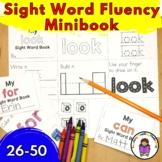 Sight Word Fluency Minibook (Word 26-50) Fry List