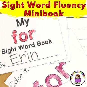 Sight Word Fluency Minibook (Word 76-100) Fry List