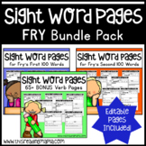 Fry Sight Word Pages - The BUNDLE Pack
