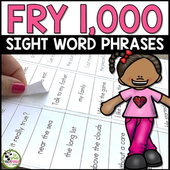 Fry Sight Word Phrases 1,000 Words Ready to Print on Sticker Labels! {Editable}