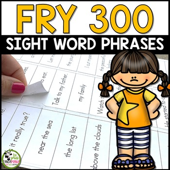 Fry Sight Word Phrases 300 Words Ready to Print on Sticker Labels! {Editable}