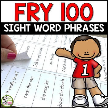 Fry Sight Words Phrases for First 100 Fry Words (Editable and Label Ready)