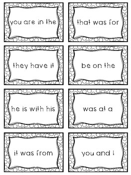 Fry Sight Word Phrases - The First 100 Bundle