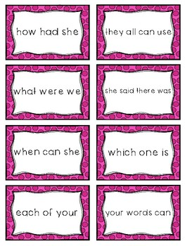 Fry Sight Word Phrases - The First 100 Set 2: Words 26-50