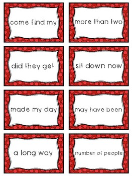 Fry Sight Word Phrases - The First 100 Set 4: Words 76-100