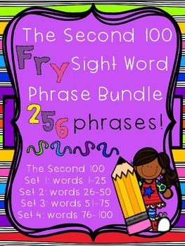 Fry Sight Word Phrases - The Second 100 Bundle