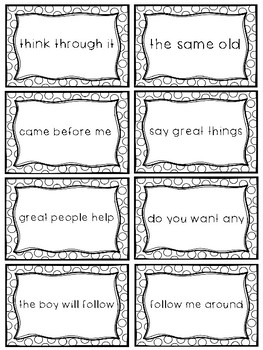 Fry Sight Word Phrases - The Second 100 Set 2: Words 26-50