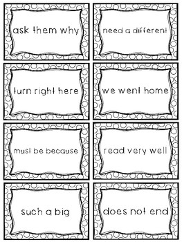 Fry Sight Word Phrases - The Second 100 Set 3: Words 51-75